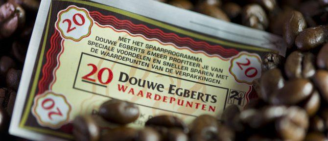 Als onverzadigbare DE-koffiezegels aan het sparen