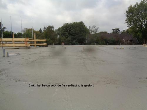 5 oktober 2018: beton voor 1e verdieping is gestort