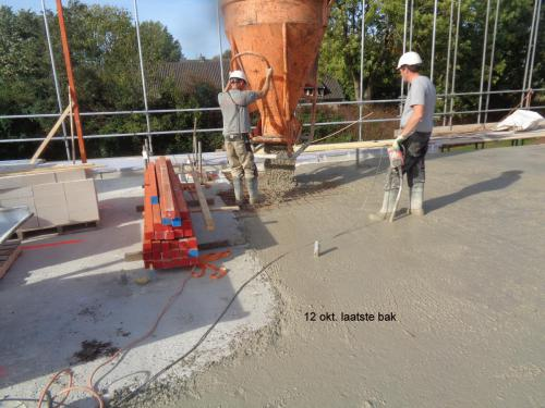 12 oktober 2018: laatste cement wordt gestort