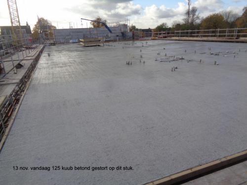 13 november 2018: 125 kuub beton gestort op dit stuk