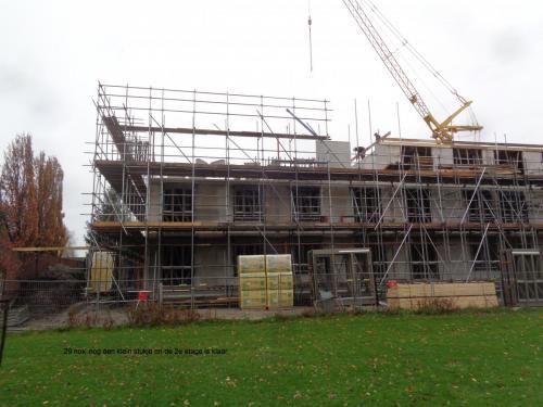 29 november 2018: nog een klein stukje en dan is de 2e etage klaar
