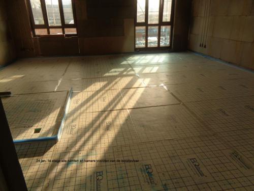 24 januari 2019: alle kamers en ruimten op de 1e etage zijn voorzien van isolatievloer