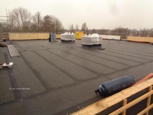 30 januari 2019: het dak is klaas