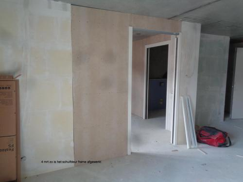 4 maart 2019: afwerking frame schuifdeur