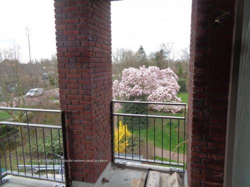 27 maart 2019: wat een mooi uitzicht vanaf het balkon!