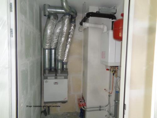 29 april 2019: installatie voor lucht ventilatie
