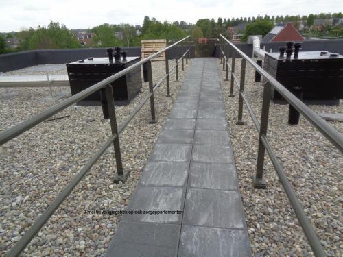 3 mei 2019: beveiligingshek op dak zorgappartementen