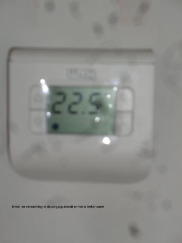 8 mei 2019: verwarming in de zorgappartementen staat aan