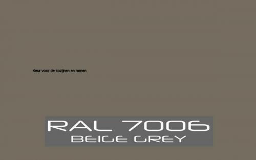 RAL-7006 Kleur Kozijn en ramen