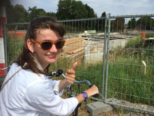 22-07-2018: Joanna bij de bouw