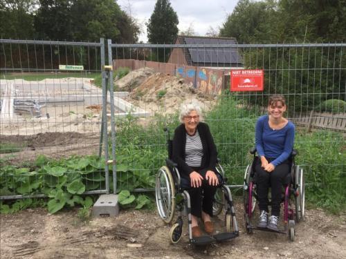 Joanne en Beppe op lokatie