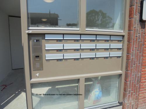23 mei 2019: brievenbussen met een modern belplateau